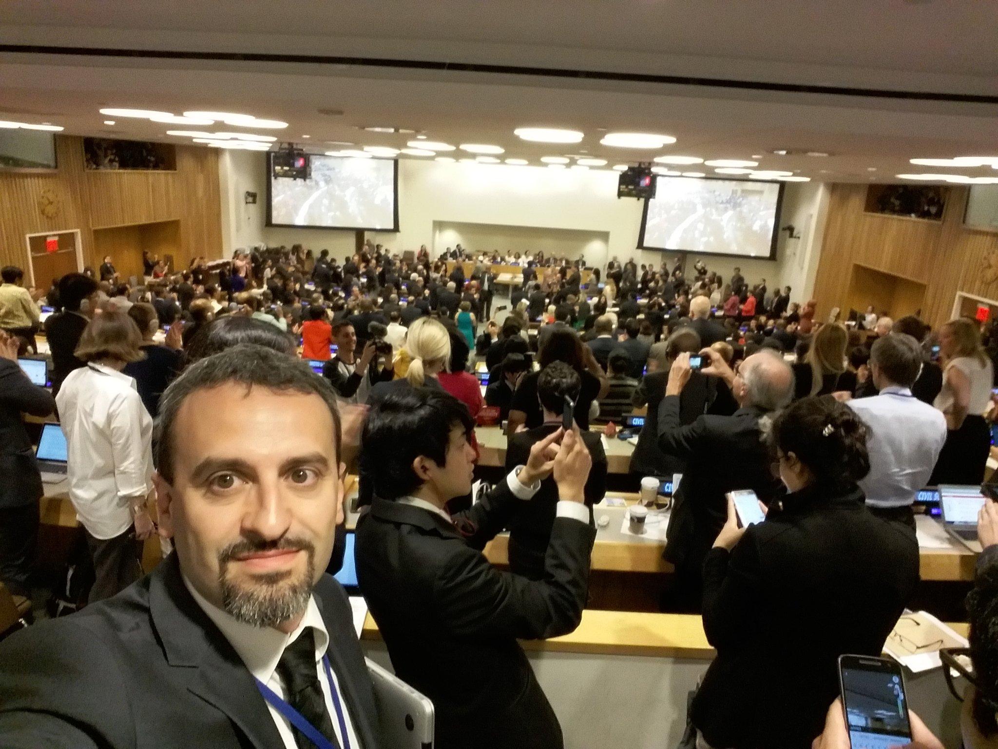 """Al Palazzo di Vetro dell'ONU per il """"Primo Comitato"""" sul Disarmo dell'Assemblea Generale - ottobre 2016"""