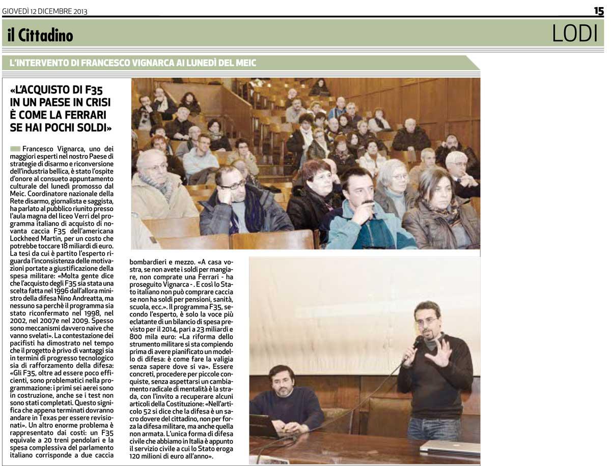 meic-9-12-2013-francesco-vignarca-Il-Cittadino-12-12-2013