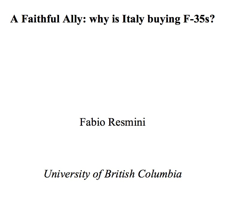 Report Resmini F35
