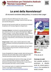 15 ottobre milano incontro nonviolenza