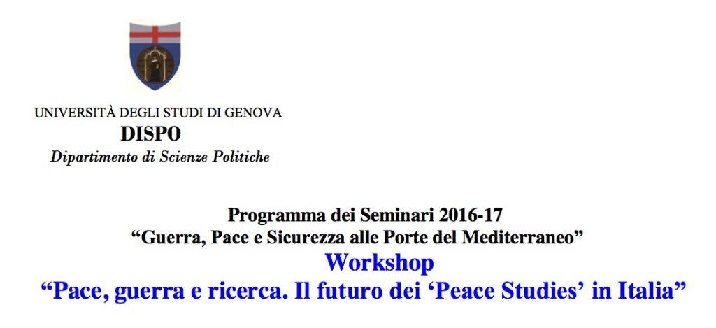 seminario peace studies genova