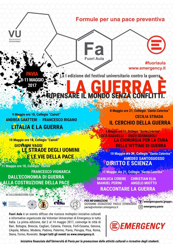 Programma laguerraè Pavia