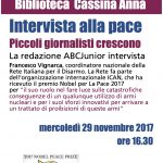 Intervistato da ABC Junior, alla Biblioteca Cassina Anna di Milano