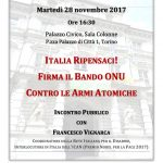 Appuntamenti di disarmo nucleare in Piemonte