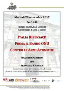Torino volantino 28 novembre 2017