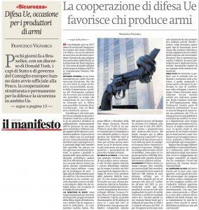 difesaEU armi Manifesto dic 2017