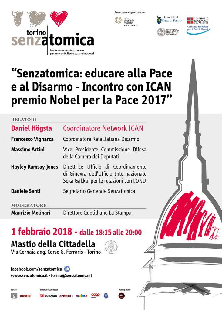 Rilanciare il disarmo nucleare, eventi insieme a Daniel Hogsta di ICAN