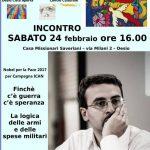 Il Coraggio della Pace – incontro con Francesco Vignarca, a Desio