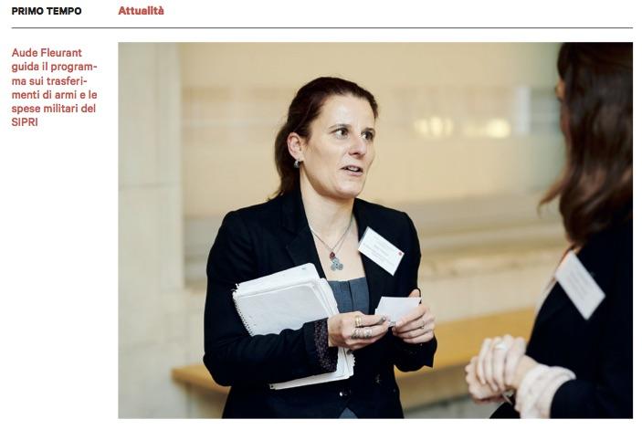 Lo sguardo indipendente sulla spesa militare. Intervista ad Aude Fleurant (Sipri)