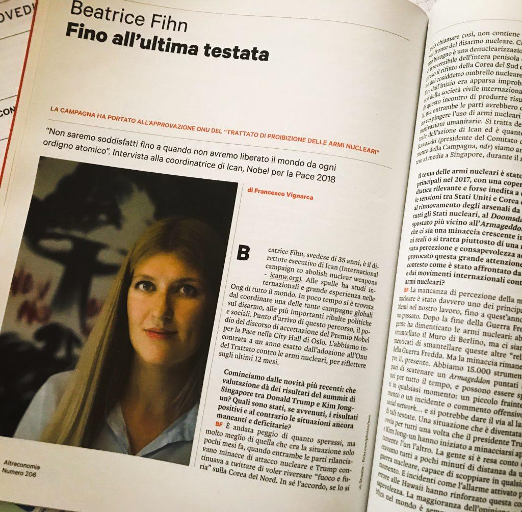 Beatrice Fihn Altreconomia