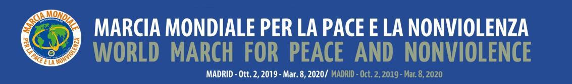 Marcia Mondiale Pace Nonviolenza