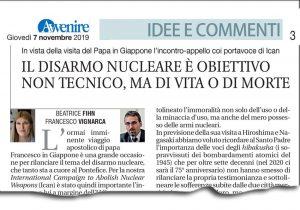 Avvenire Disarmo Nucleare Beatrice Fihn